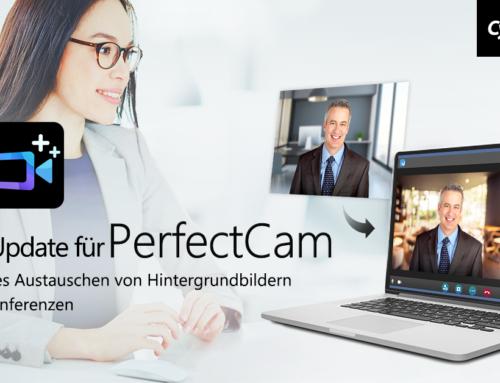 CyberLink stellt Update für Webkamera-Plug-In PerfectCam vor mit AI-Hintergrundbildern bei Videokonferenzen