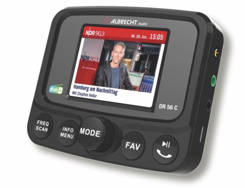 Albrecht DR 56 C: Erfolgreicher DAB+ Autoradio-Adapter jetzt mit Vollbild-Farbdisplay und Slideshow-Funktion erhältlich