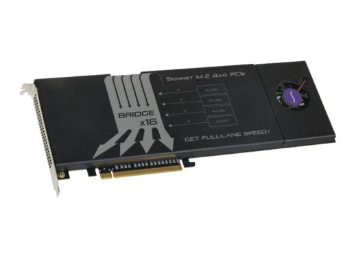 Mit der Fusion SSD M.2 4×4 PCIe-Karte bringt Sonnet ultraschnelle SSDs an den Mac Pro 2019