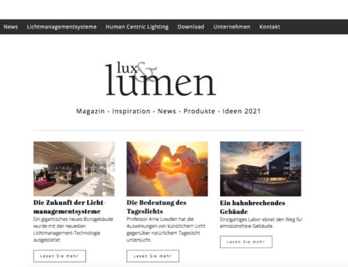 Neuer Glamox Hauptkatalog lux&lumen 2021 erstmals rein digital verfügbar