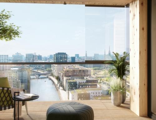 Glasklarer Blick auf die Hafencity