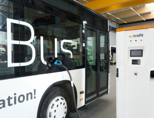 in-tech integriert Ready-to-use-Steuergerät Charge Control L in Linienbus von e-troFit