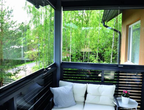 Balkonverglasung im frischen Design