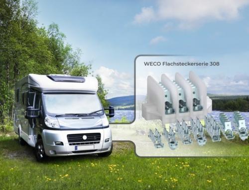 WECO präsentiert technisch robuste Flachsteck-Verteilerleisten für die Caravan-Industrie
